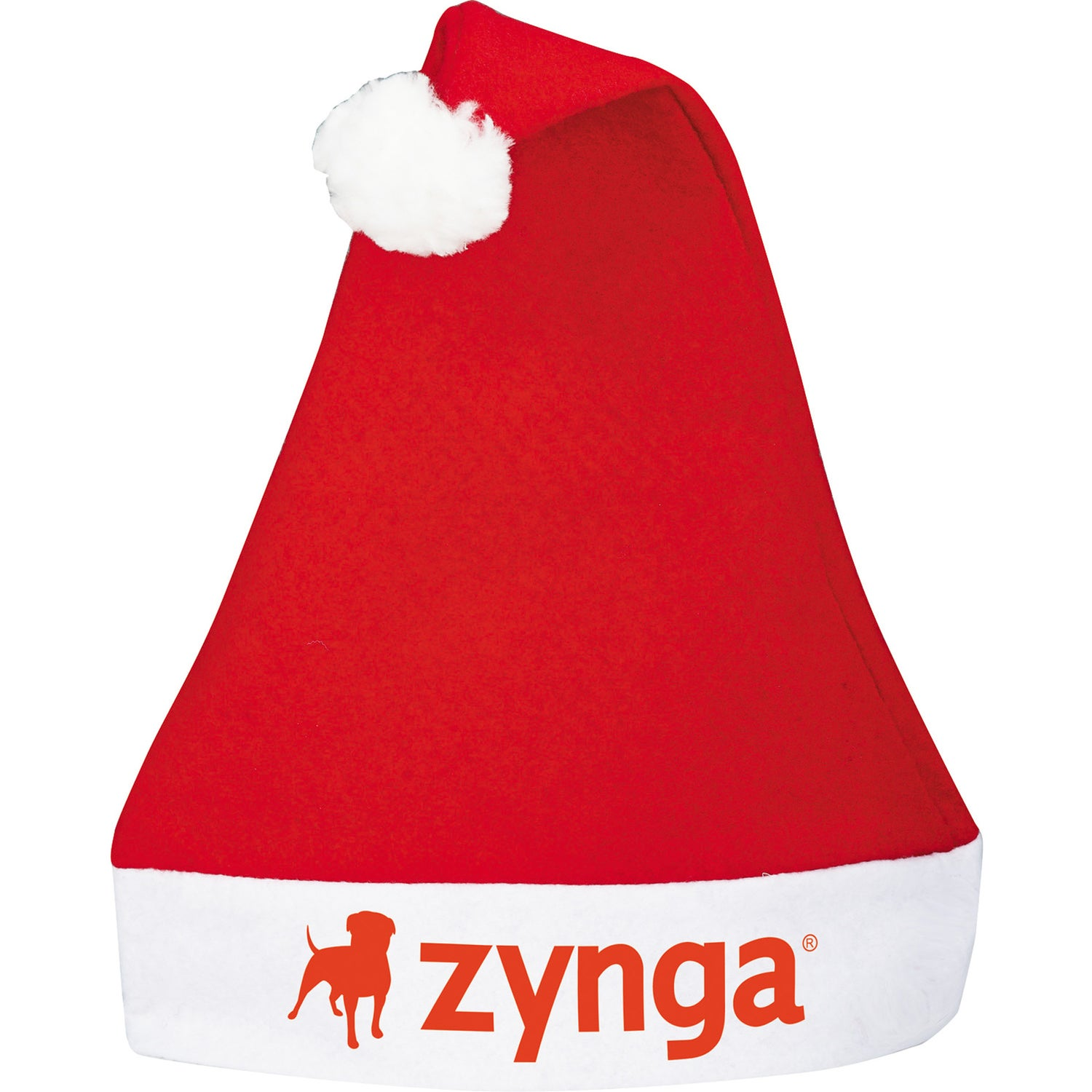 Promotional holiday santa hats with custom logo for ea
