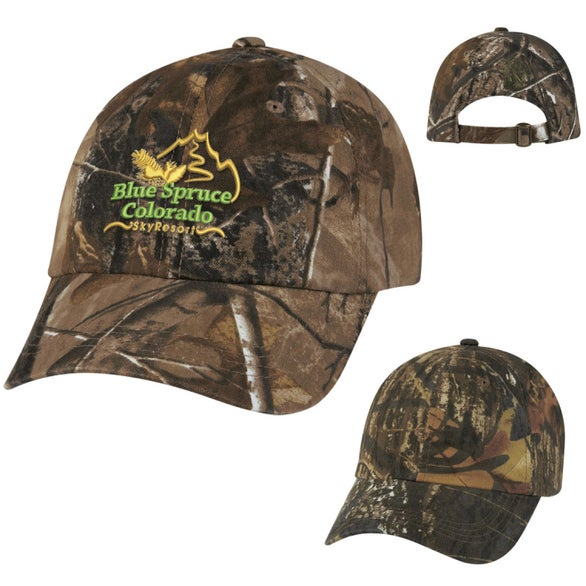 Promotional Hunter s Hideaway Camouflage Caps with Custom Logo for ... 574045120244
