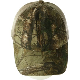 Hunter's Hideaway Mesh Back Camouflage Cap for Advertising