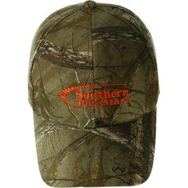 Imprinted Hunter's Retreat Camouflage Cap