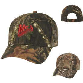 Hunter's Retreat Camouflage Cap Imprinted with Your Logo