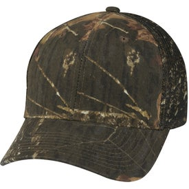 Hunter's Retreat Mesh Back Camouflage Cap Imprinted with Your Logo
