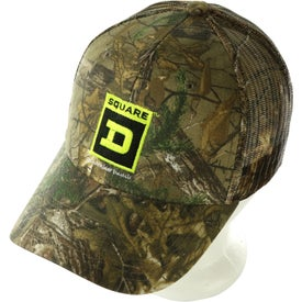 Hunter's Retreat Mesh Back Camouflage Cap Printed with Your Logo