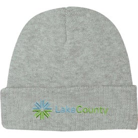Monogrammed Knit Beanie With Cuff