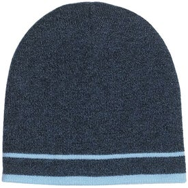 Customizable Knit Beanie with Stripe Branded with Your Logo