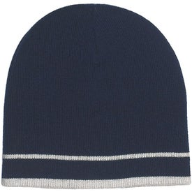 Customizable Knit Beanie with Stripe Giveaways