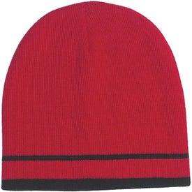 Custom Customizable Knit Beanie with Stripe