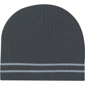 Personalized Knit Beanie with Double Stripe
