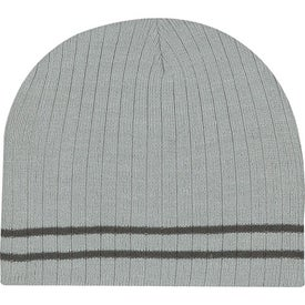 Advertising Knit Beanie with Double Stripe