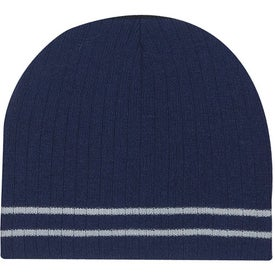 Knit Beanie with Double Stripe with Your Logo