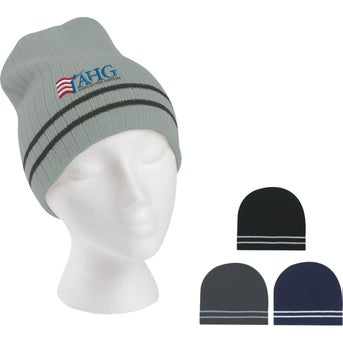1d0c106bf287d CLICK HERE to Order Knit Beanie with Double Stripes Printed with ...