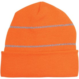 Knit Beanie with Reflective Stripes for Your Company