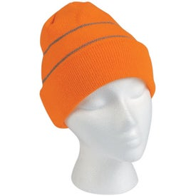 Knit Beanie with Reflective Stripes for Customization