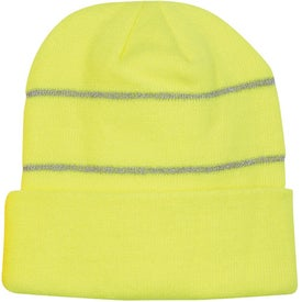 Knit Beanie with Reflective Stripes for Your Church