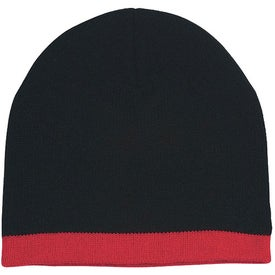 Imprinted Knit Beanie with Stripe