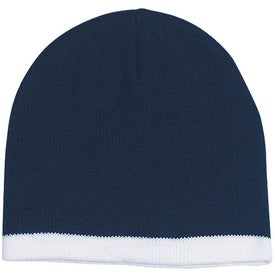 Knit Beanie with Stripe for Advertising