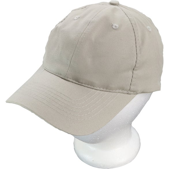 Khaki Lightweight Brushed Cotton Twill Hat
