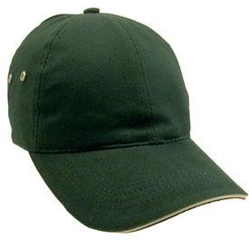 Printed Lightweight Brushed Cotton Twill Sandwich Cap