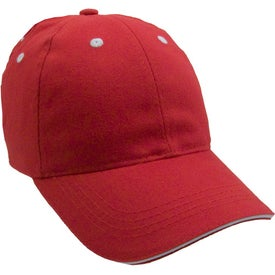 Lightweight Brushed Cotton Twill Sandwich Cap Branded with Your Logo
