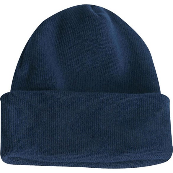 Long Knit Watchcap Beanie Embroidered Beanies and Knit Caps