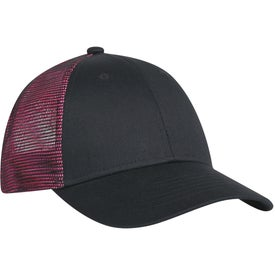Monogrammed Metallic Mesh Back Cap