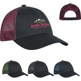 Custom Metallic Mesh Back Cap