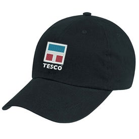 Natural Brushed Twill Cap with Your Slogan