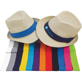 Nature Straw Fedora Hat (Unisex)
