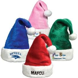Branded Plush Santa Hat