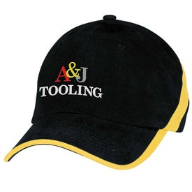 Racing Stripe Cap Imprinted with Your Logo