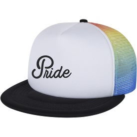Rainbow Mesh Trucker Cap (Unisex)