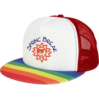 5617261ec896e CLICK HERE to Order Rainbow Trucker Caps Printed with Your Logo for ...