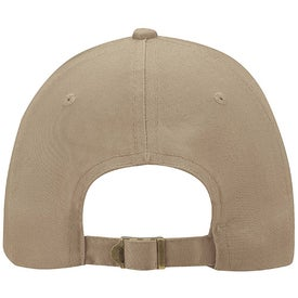 6-Panel Brushed Twill Cap Branded with Your Logo