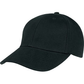 6-Panel Brushed Twill Cap for Promotion