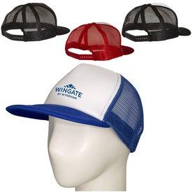 Skater Flat Bill Trucker Cap (Unisex)