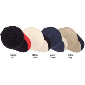 Branded Slash Structured Brushed Cotton Twill Cap
