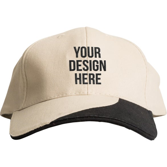 bf5307e90fd Promotional Sandwich Brushed Cotton Twill Caps with Custom Logo for ...