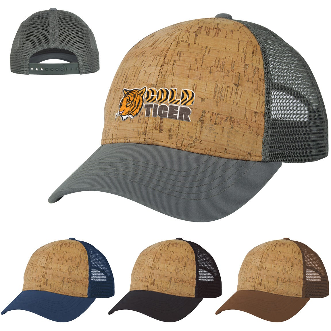 Promotional Somerset Cork Mesh Back Caps with Custom Logo for  8.39 Ea. b1e683f3213