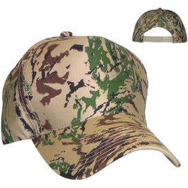 Structured Camouflage Cap with Your Slogan