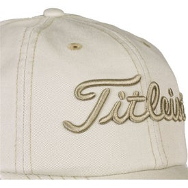Titleist Unstructured Contrast Stitch Cap with Your Slogan