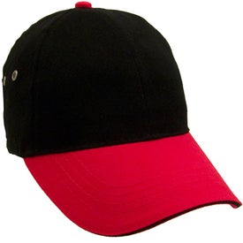 Logo Lightweight Brushed Twill 2-Tone Sandwich Cap