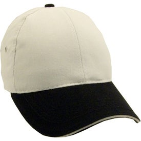 Lightweight Brushed Twill 2-Tone Sandwich Cap Branded with Your Logo
