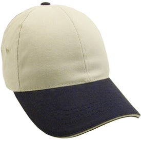 Lightweight Brushed Twill 2-Tone Sandwich Cap for your School