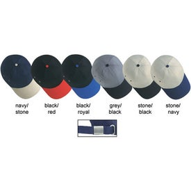 Lightweight Brushed Twill 2-Tone Sandwich Cap for Your Church