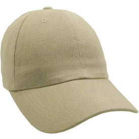 Unconstructed Heavy Brushed Cotton Cap Imprinted with Your Logo