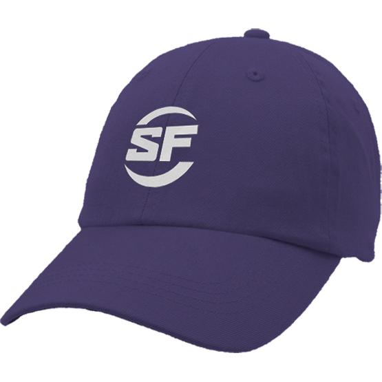 Purple Unconstructed Chino Washed Cotton Twill Cap