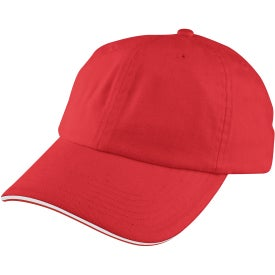 Unstructured Sport Sandwich Cap Branded with Your Logo