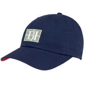 Washed Chino Cap with Your Slogan