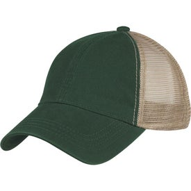 Washed Cotton Mesh Back Cap for Customization