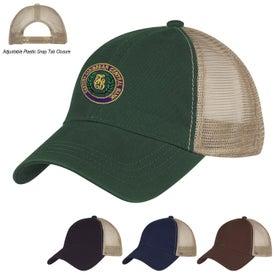 Custom Washed Cotton Mesh Back Cap